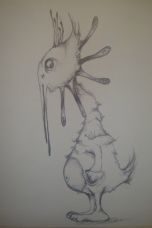 Inspired from the Doctor who creature the Ood Black brio sketch on paper