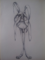 Biro Sketch on paper Copy Right Rebecca Meilak July 2012